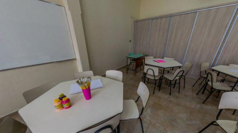 Sala de Artes no Instituto de Ensino Sagrada Família em São Caetano do Sul