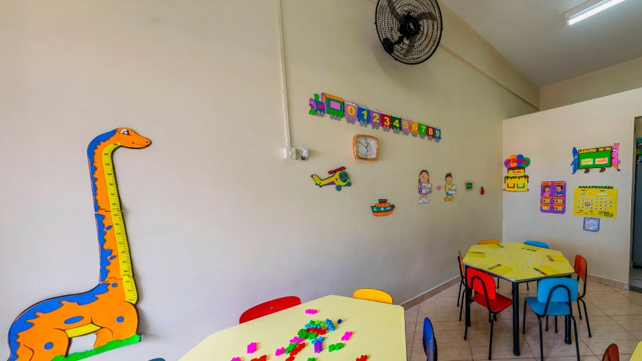 Sala de ensino infantil no Instituto Sagrada Família em São Caetano do Sul